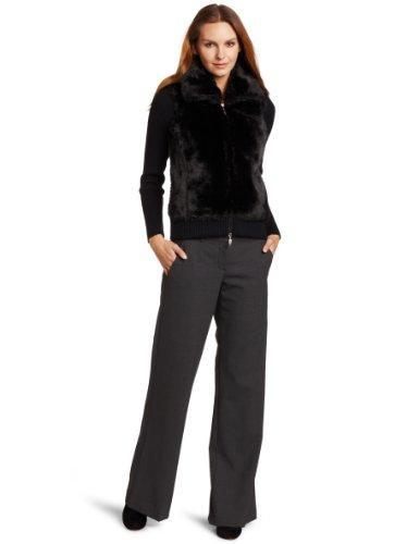 Karen Kane Women's Rib Sleeve Faux Fur Jacket