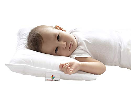 Mabel Home Kids Baby Toddler Pillow with Zipper Washable Pillowcase , White,14″x18″