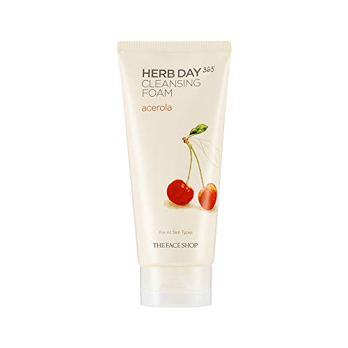 The Face Shop Herb Day Cleansing Cleansing Foam (Acerola) 170ml/Made in Korea (The Face Shop Herb Day Cleansing Cream)