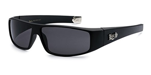 LOCS Original Gangsta Shades Hardcore Men's Flat Top Rectangular Sunglasses - Matte - Super Sale For Sunglasses