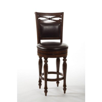 Hamilton Stool Bar Swivel - Hillsdale Furniture Completely KD Hamilton Park Swivel Bar Stool with Upholstered Back, Brown