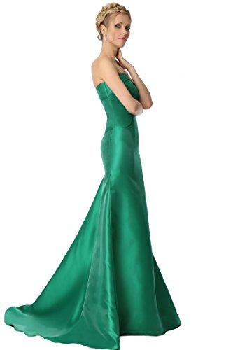 de de sirena noche damas formal 16XDS vestido trompeta tirantes honor EDJ1837 sin de las SEXYHER Green Xq84x