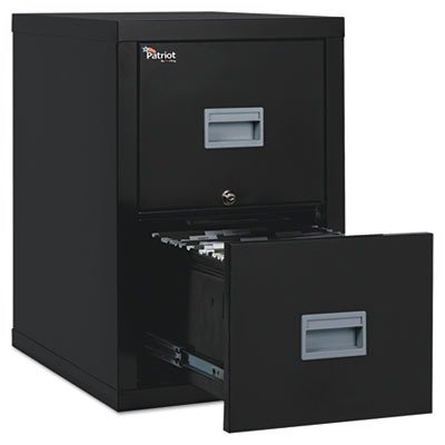 - FireKing Patriot 2P1825-CBL One-Hour Fireproof Vertical Filing Cabinet, 2 Drawers, Deep Letter or Legal Size, 18