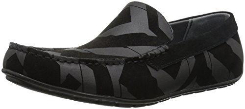 Calvin Klein Men's Isaac Geo Print/Calf Sde Slip-on Loafer