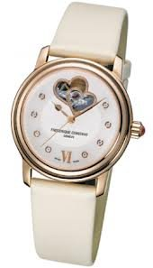Frederique Constant Double Heart Beat Mother of Pearl Dial Ladies Watch 310DHB2P4