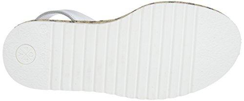 MENORQUINAS POPA White Sandali Bianco Donna Tamarindo Naxos con Plateau White 0 OBwSqO
