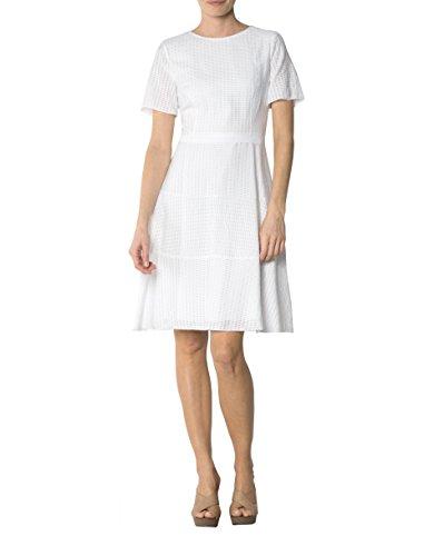 36 Dress Größe JOOP Weiß Damen Farbe Gemustert Kleid Viskose BxPxAY