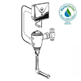 American Standard 6061.305.007 Multi AC Powered Conceal Flushometer for 3/-4-Inch Black Spud Urinal, Rough Brass - Spud Urinals