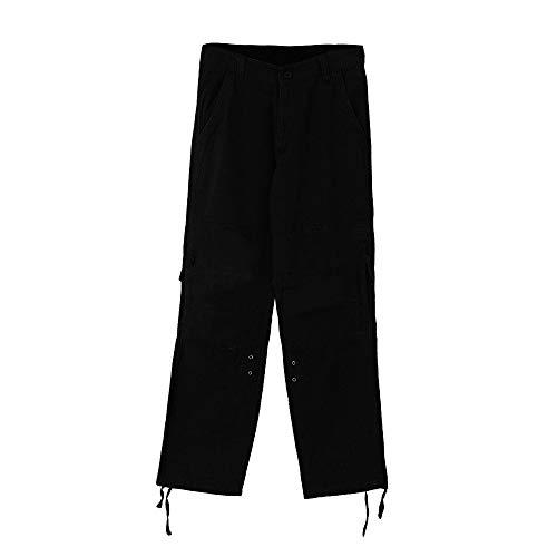 Men's Casual Sportswear Clearance, REYO Men Outdoors Multi-Pocket Zipper Pants Solid Overalls Sweatpants Trousers by REYO-pants