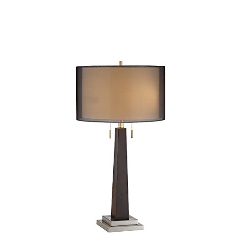 Stein World Furniture Jaycee Table Lamp, Ebony, Brushed Steel ()