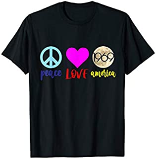 Moon landing 50th anniversary shirt Peace Love America Lover T-shirt | Size S - 5XL