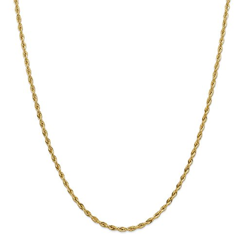 Jewel Tie 14k Yellow Gold 3.0mm Semi-Rope Chain Necklace 24