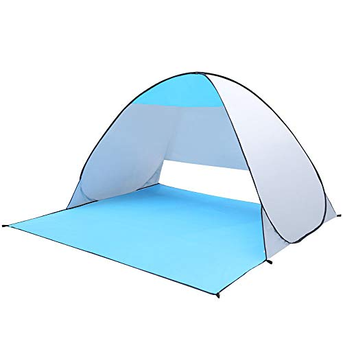 YLFC Pop-up Beach Tent Portable for1-3 Person,Automatic Instant Beach Tent Waterproof Anti-UV Shade Camping Tent for Beach, Garden, Camping, Fishing, Picnic