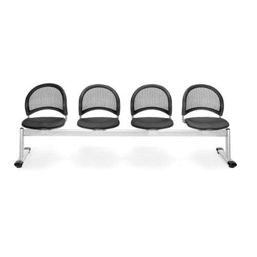 (OFM 334-2213 Moon 4-Unit Beam Seating with 4 Seats, Slate)