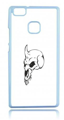 """Smartphone Case Apple IPhone 6/ 6S """"Totenkopf mit ein gedrückter Nase Horn auf stehen Skelett Rocker Motorradclub Gothic Biker Skull Emo Old School"""" Spass- Kult- Motiv Geschenkidee Ostern Weihnachten"""