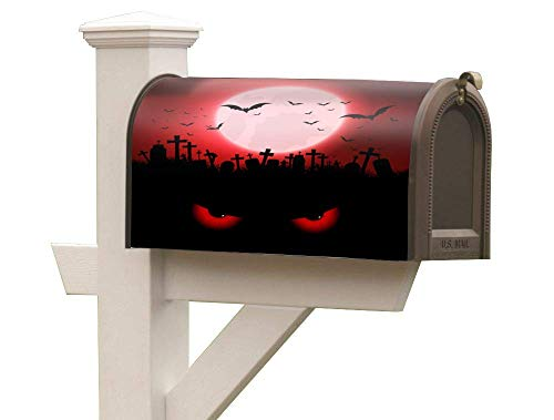 Magnetic Mailbox Posts Cover Anti-Fade to Extend Holiday Greetings Mailbox Flag Bat Ghost fit 6½