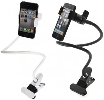 Universal Long Arm Clip Desk Bed Car Holder For iPhone Smartphone --- Color:White: Amazon.es: Electrónica
