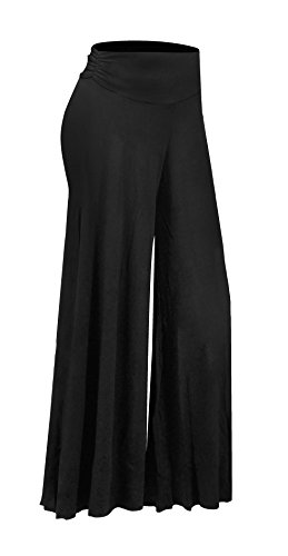 Ruched Wide Leg Gaucho (HOT FROM HOLLYWOOD Women's Gaucho Boho Flare Wide Leg Soft Palazzo Pants)