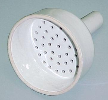 Seoh Buchner Funnel Glazed porcelain one piece 70 mm by Scientific Equipment of Houston