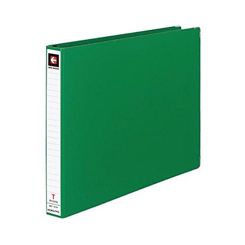 生活日用品 (まとめ買い) データバインダーT(バースト用レギュラータイプ) T11×Y15 22穴 280枚収容 緑 EBT-151NG 1冊 【×10セット】 B074JTF3TQ