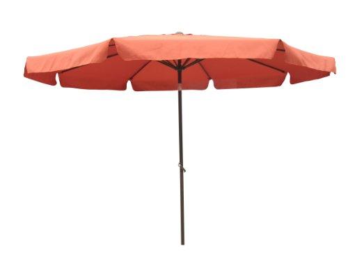 International Caravan YF-1104-3M/TC-IC Furniture Piece Outdoor 10 Foot Aluminum Umbrella with Flaps For Sale