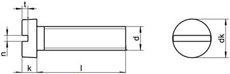 x20 M3x30 Zylinderschrauben Zylinderkopf mit Schlitz Edelstahl A2 DIN 84