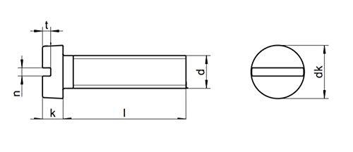 Zylinderschrauben Zylinderkopf mit Schlitz Edelstahl A2 DIN 84 x10 M3x8