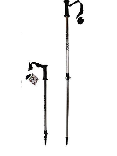 WSD 7075 ALU - Bastones de esquí telescópicos Ajustables Plegables para niños con cestas de 81 a 106 cm