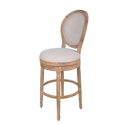 Best Quality Furniture Barstool Best Quality Solid Oak upholstered In Linen Swivel Bar Stool, by Best Quality