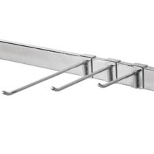 Pack of 100 New Retail Chrome Grid Hooks For Slotted Hang Rail