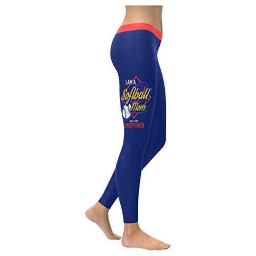 I Am A Softball Mom Whats Your Super Power Funny Ideas Womens Leggings Navy (The Best Superpower 94)