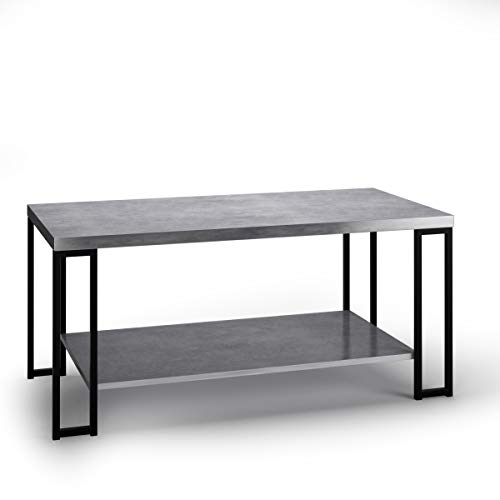 Giantex Coffee Accent Tea Table for Modern Living Room Bedroom Steel Metal Pine Frame Tables W/Faux Marble Top Cocktail Table (39.5