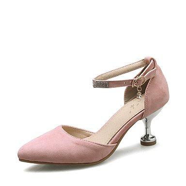 LvYuan Mujer-Tacón Kitten-D'Orsay y Dos Piezas Zapatos del club-Sandalias-Boda Vestido Fiesta y Noche-Semicuero-Negro Rosa Beige Pink