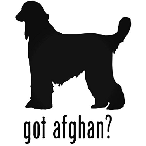 YWS Vinyl Sticker Decal - Got Afghan Hound Dog 2 - Sticker Laptop Car Truck Window Bumper Notebook Vinyl Decal
