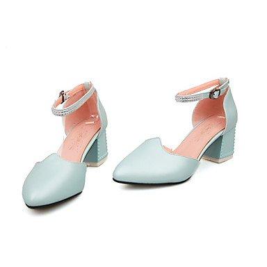 LvYuan Mujer-Tacón Robusto-Otro-Sandalias-Oficina y Trabajo Vestido Fiesta y Noche-PU-Azul Rosa Blanco White