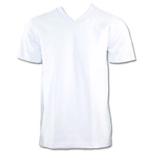 Tee Cotton Heavyweight 100% (Pro Club 100% Cotton V-Neck T-Shirt White Large, 5.9oz)