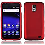 For Samsung Galaxy S II Skyrocket S2 i727 Accessory - Red Hard Case Protector Cover + Free Lf Stylus Pen