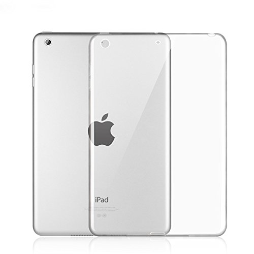 iPad 9.7 Case,Asgens Transparent Slim Silicon Soft TPU Tablet Computer Case [Shock Absorption] For Apple New iPad 9.7 inch (Clear Silicone Skin Case)
