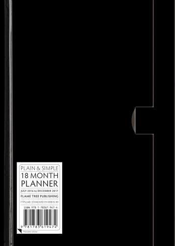 Black standard plain & simple 18 month planner 2017 pdf