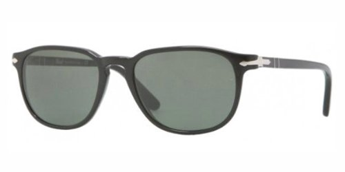 Persol PO 3019s 52 MM Black Frame/crystal green Lens - 140 Persol