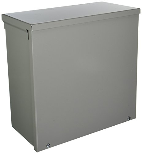 Hoffman A12R126NK NEMA 3R Enclosure, Screw Cover, Galvanized, Painted, 12.00