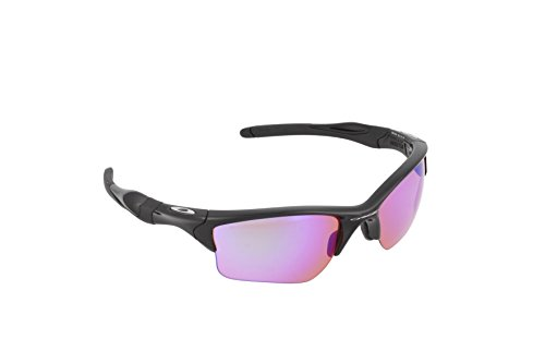 Oakley Men's Half Jacket 2.0 Rectangular Sunglasses, Prizm Golf Lens , Polished Black ()