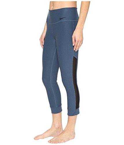 Nike Womens Power Legend Veneer Capris Industrial Blue/Black 839734-464 (Small) ()