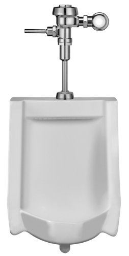 Sloan Valve WEUS-1000.1001-0.13 HEU Wall-Hung Urinal with HEU Royal Flush Valve, (Wall Hung Flush Valve Toilet)