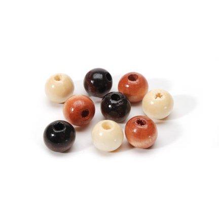 190 Assorted Earthtone Wood Beads (6mm) ()