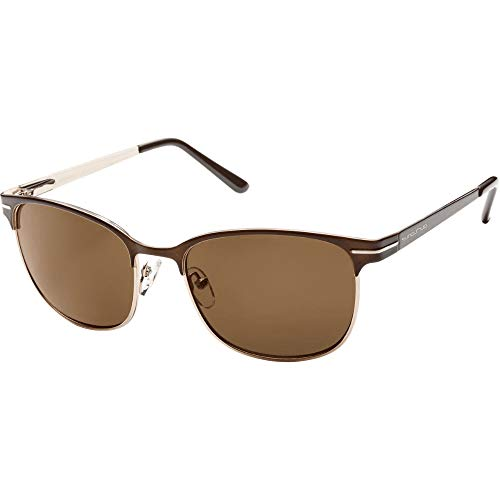 (Suncloud Causeway Polarized Sunglasses, Brown Frame, Brown Polycarbonate Lenses)