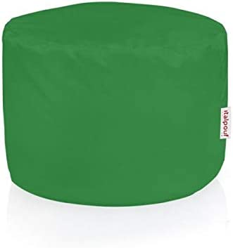 Italpouf - Puf de Exterior cilíndrico, 40 x 55 cm de diámetro, desenfundable Puf Impermeable. Puff de jardín Tejido Nailon puf Acolchado. Puf Puff 24 Colores, Verde: Amazon.es: Jardín