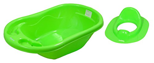 Sunbaby Bathtub with Potty Seat (Pack of 2) (Green)