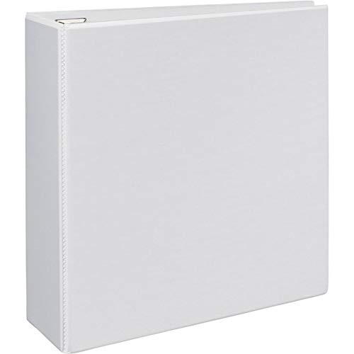 Avery Heavy-Duty View Binder with 4-Inch One Touch EZD Ring, White (79104)