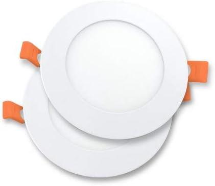 Alverlamp P2DLPLAST06W60 - Downlight LED 6W 6000K Pack de 2 unidades: Amazon.es: Iluminación